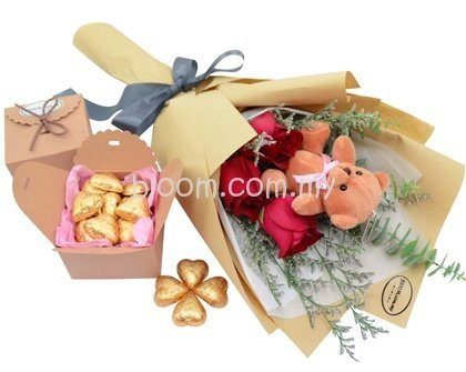 Deliver Flower Gift To Malaysia PJ Petaling Jaya Ipoh Florist Valentine Birthday Bloommy