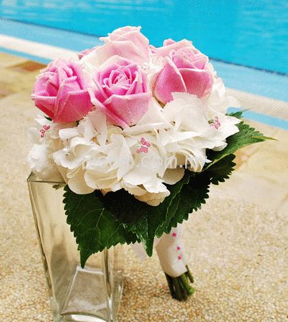 bridal bouquet 19 sku bridal19 as shown white hydrangea with 8 stalks ...