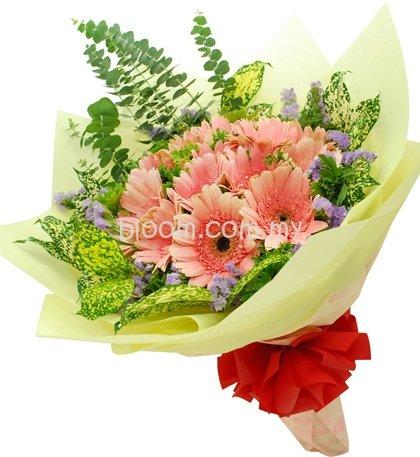 Gerbera Hand Bouquet 07