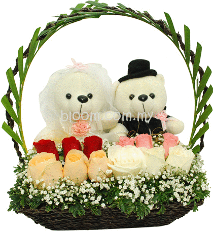 Online Wedding Gift Delivery Malaysia : wedding gifts 03 sku wed03 as shown couple wedding bear with mix color ...